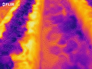 Hőkamera nedv vezet hő